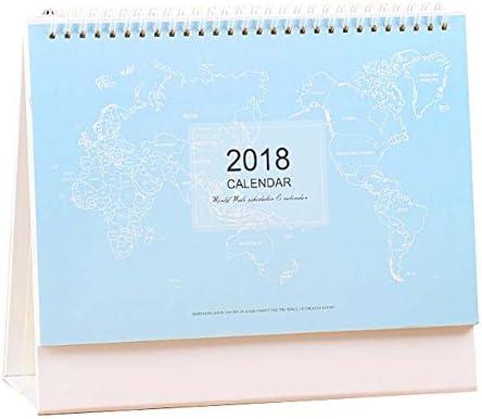 Natural Creative 2018 Büro/Home Kalender Schreibtisch Stehkalender-Blau