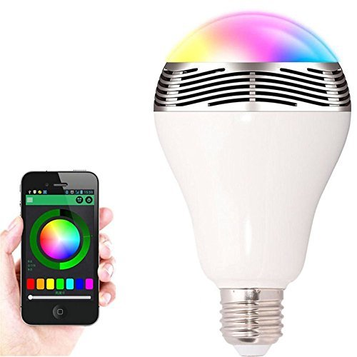 CR LED Bluetooth Smart LED Light Bulb - Dimmable Color Changing Light Bulb for Apple iPhone, iPad and Android Phones