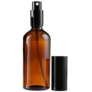 1PCS Empty Portable Brown Glass Atomizer Cosmetic Spray Bottle Container White Black Cap For Perfume Makeup Water Travel liquid (100ML /3.4oz)