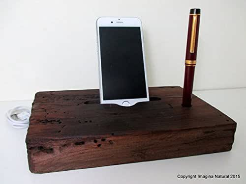 wooden iphone docking station reclaimed tsunami wood phone dock stand wooden 16526