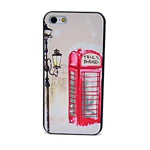JJERed Telephone Booth Pattern Hard Case for iPhone 5/5S