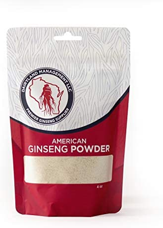 Authentic American Ginseng Powder No Additives, Non-GMO, Gluten Free, Ground from Wisconsin Roots 112 Grams