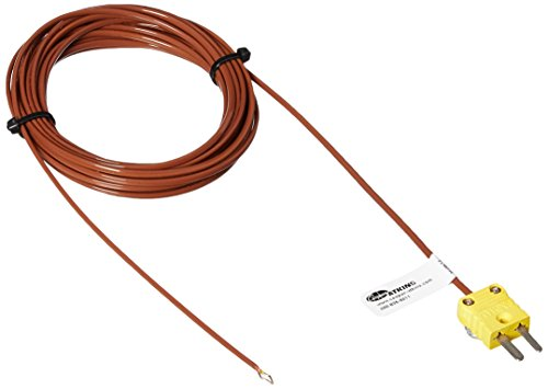 Cooper-Atkins 50416-K Type K Air Temperature Thermocouple Probe Bare Tip with 15' Cable, -328/400° F Temperature Range by Cooper
