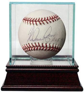 Signed Nolan Ryan Ball - Official Major League HOF 99 w Glass Case Hologram New York Mets) - Steiner Sports Certified