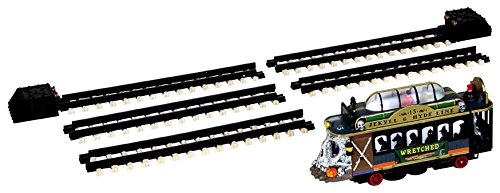 Lemax Spooky Town Spookytown Trolley Set of 6 Battery Operated # 44749 -