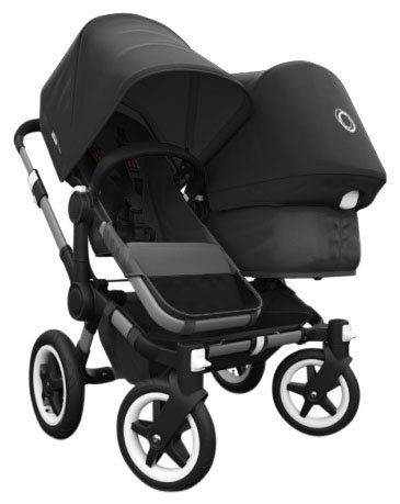 Bugaboo 2015 Donkey Duo Stroller Complete Set in Aluminum and Black by Bugaboo Strollers
