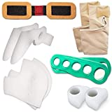Orthopedic Bunion Corrector & Bunion Relief Elastic Sleeve Protectors-Gel Separators Spacer Spreader-Hammertoe Straightener Turf Big Toe Brace Splint-Ball Stretcher Heel Cushion Inserts For Women M-L