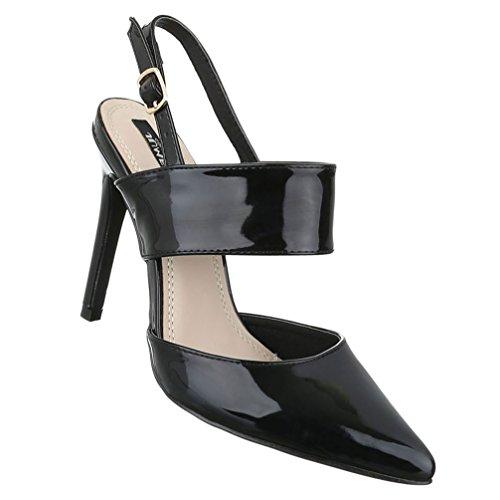 Damen Schuhe Sandaletten Pantoletten Pumps Mules Dunkelbraun 40 H0IaDZi8C0