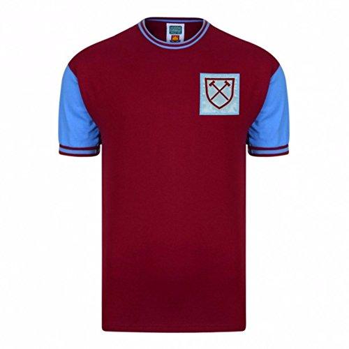 (West Ham United Fc Mens Official 1966 No 6 Replica Shirt (XL) (Claret/Aqua))