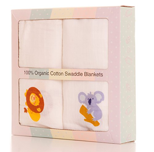 Better Then You Saw At Target Or Walmart! Buy Now 100% Organic Cotton Baby Light Swaddle Blankets Set – Super Soft Blanket Wrap For Infants, Babies - Best Baby Shower - Changing Koala Baby Stations Bear