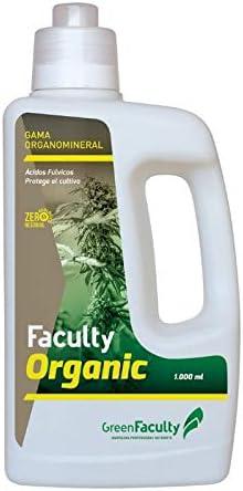 GreenFaculty Abono Fertilizante. Faculty Organic: Materia ORGÁNICA LÍQUIDA ECOLÓGICA 1L. Cero Residuos, Apto para Cultivo Medicinal