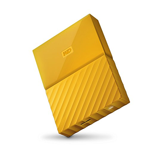 WD 4TB Yellow My Passport  Portable External Hard Drive – USB 3.0 – WDBYFT0040BYL-WESN