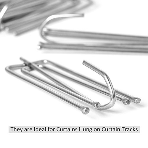 Curtains Pleat Tape End Hooks to Make Pleats Stainless Steel (25)