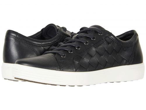 ECCO(エコー) メンズ 男性用 シューズ 靴 スニーカー 運動靴 Soft 7 Woven Tie - Black [並行輸入品] B07C8RCDF3