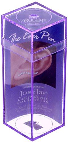 The Ear Pin Cubic Zirconias Stylized Heart Sterling Silver Earrings