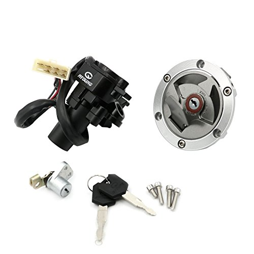 Alpha Rider Ignition Switch Lock Fuel Gas Cap Cover Seat Lock Keys Set For Kawasaki Ninja 250R EX250J SE 2012 | Ninja 250R EX250J 2008-2012 | Ninja 300 EX300B ABS 2014-2015