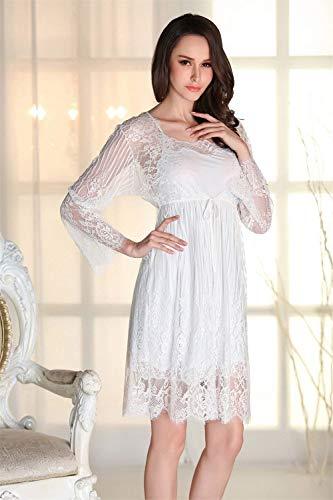 Babydoll Uomo Pizzo Da Calda Blau In Notte Fashion Donna Licht Saoye Camicia Per Bagno Giovane Set Biancheria xFY7vqnwU
