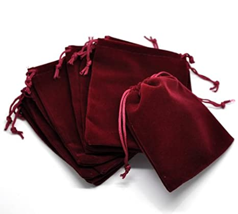 Amazon.com: pepperlonely marca 10pc Rojo Oscuro terciopelo ...