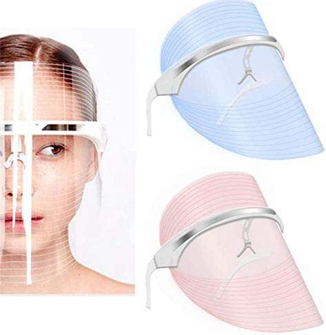 3 Color Facial Mask | Photon Face Skin Care Over The Counter System | Healthy Smooth Skin Rejuvenation | Anti-Aging, Tightening, Toning, Wrinkle Acne Treatment | Collagen Restoring & Whitening Device