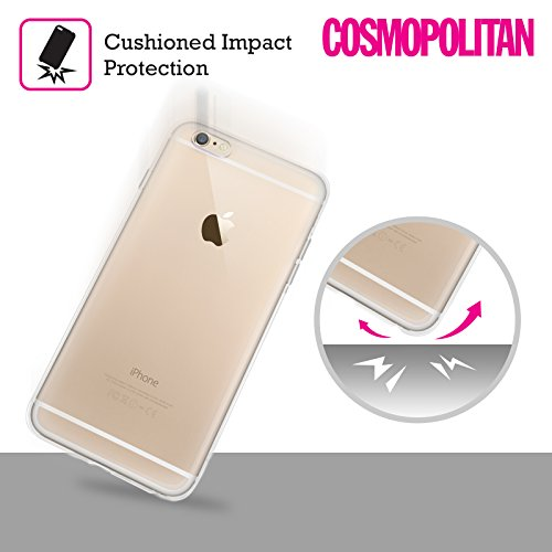 Official Cosmopolitan Black Kiss Mark Soft Gel Case for Apple iPhone 6 Plus / 6s Plus