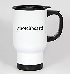 #notchboard - Funny Hashtag 14oz White Travel Mug