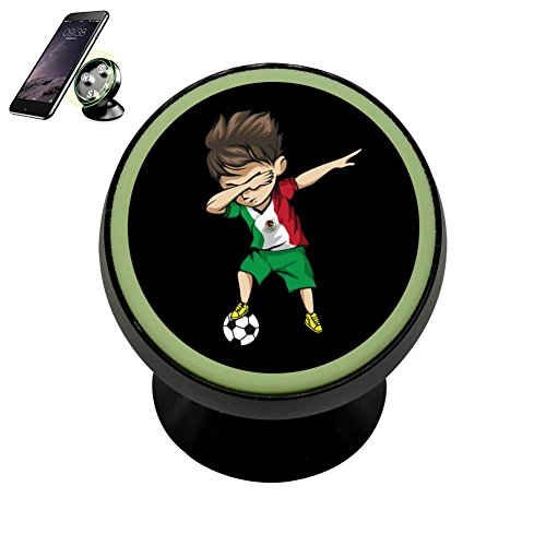 PFTGOD Magnetic Dabbing Soccer Boy Mexico Jersey Car Mount phone Holder Luminous universal 360 Rotation Black