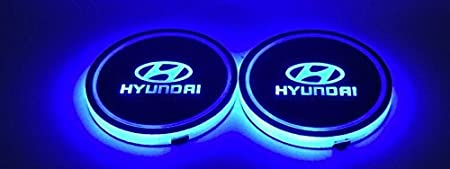 Ford Bearfire Car Logo LED Cup Pad cup holder light USB Charging Mat Luminescent Cup Pad LED Mat Interior Atmosphere Lamp Decoration Light