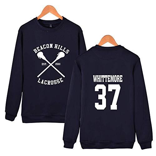 Stilinski Bleu Yukimura Casual Pull Femme Beacon Manches Sweat Lacrosse Hills 37 Qqi Foncé Whittemore Lahey Top Longues Automne Imprimé Dunbar Grande shirt Taille homme Mccall Bxwf6ZAH