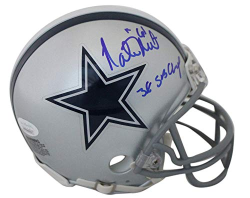 Nate Newton Autographed Dallas Cowboys Mini Helmet 3x SB Champs JSA