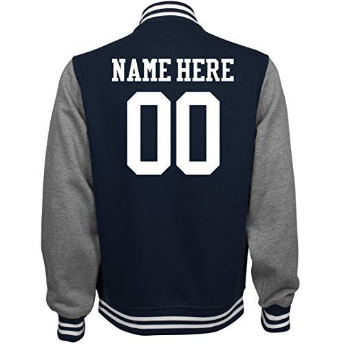 Customized Girl Personalized Varsity Jacket: Unisex Fleece Letterman Jacket ()