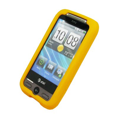 EMPIRE Jaune Silicone Skin Case Étui Coque Cover Couverture + Voiture Chargeur (CLA) for AT&T HTC Freestyle