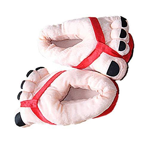 Inicio Zapatos Invierno En el interior Dedo del pie Pies grandes Algodón cálido Zapatillas de felpa suave Regalo novedad...