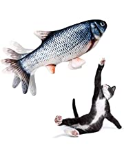 Fish Cat Toy Moving Fish Toy Flopping Fish Cat Toy for Cats Interactive Pets Chew Bite Supplies Catnip - Perfect for Biting, Chewing and Kicking
