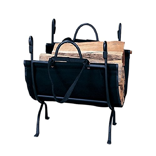 Deluxe Cast Iron Fireplace - Blue Rhino Black Cast Iron Deluxe Log Holder , Complement Your Working FirePlace.