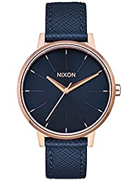 Kensington Leather A108 - Navy/Rose Gold - 50m Water Resistant Women's Analog Classic Watch (37mm Watch Face, 16mm Leather Band)