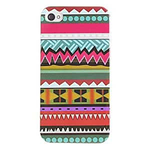 Colorful Varied Shaped Pattern Hard Case for iPhone 4/4S