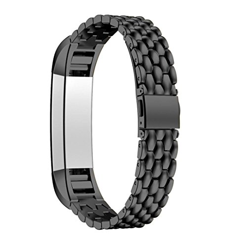 - Fitbit Alta HR Bands,Fitbit Fitness Wristband Smart Watch Stainless Steel Adjustable Replacement Band Strap Buckle Clasp Link for Fitbit Alta / Fitbit Alta HR (Dragon Black)
