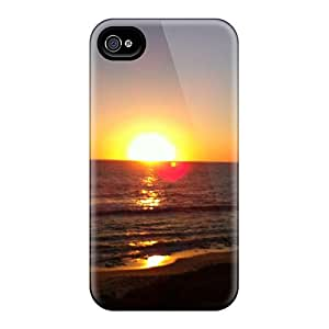 Hot The Shades Of Sunrise First Grade Tpu Phone Case For Iphone 4/4s Case Cover