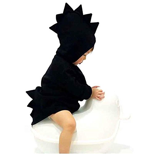 Miiyana Baby Girls Boys Winter Hooded Fleece Jacket Coat Cartoon Dinosaur Zipper Outwear