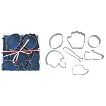 R & M International 1805 7-Piece Cookie Cutters, Sports, Assorted