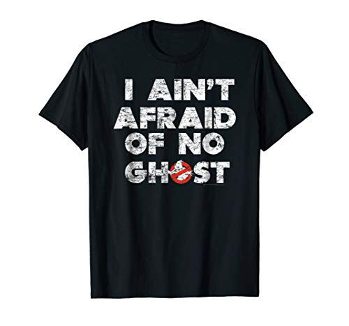Adults or Kids Ghostbusters I Ain't Afraid of No Ghost Distressed T-shirt
