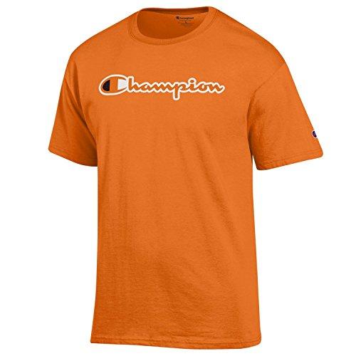 - Champion Men's Classic Jersey Script Cotton T-Shirt-Orange-XXL