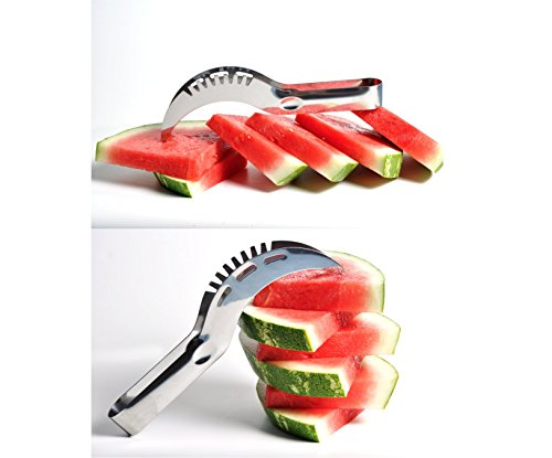 2 PACK | EASY TO USE | Watermelon Fruit Slicer Cutter | As Seen On Tv | Kitchen Corer | Stainless Steel