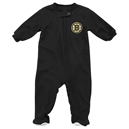 - Outerstuff NHL Boston Bruins Children Unisex Long sleeve Coverall, 0-3 Months, Black