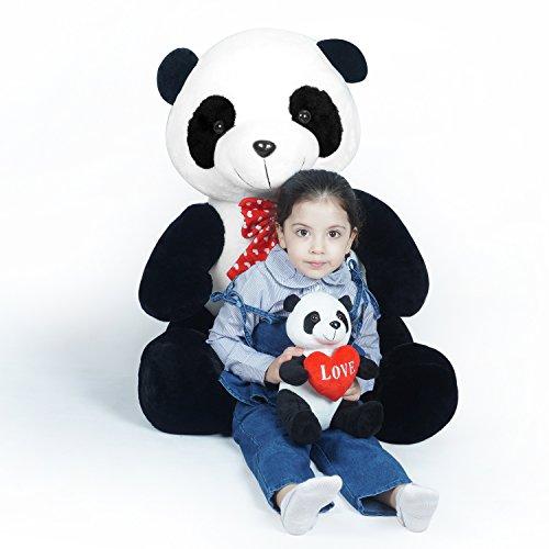 LOVOUS Super Soft Giant Panda Plush Stuffed Animal Teddy Bear with baby panda Plush Toy Gifts Kids, 31