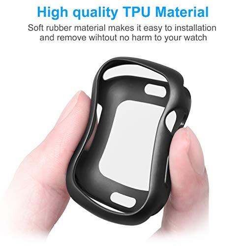MENEEA for Apple Watch Series 4 Case Protector, Ultra-Thin Anti-Scratch Flexible Case Soft Protective Bumper Cover for New Apple Watch Series 4 44mm, Replacement for iWatch 4 case Black by MENEEA (Image #5)