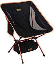 Trekology YIZI GO Portable Camping Chair - Compact Ultralight Folding Backpacking Chairs, Small Collapsible Fo