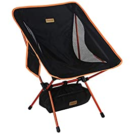 Trekology YIZI GO Portable Camping Chair – Compact Ultralight Folding Backpacking Chairs, Small Collapsible Foldable Packable Lightweight Backpack Chair in a Bag for Outdoor, Camp, Picnic, Hiking