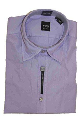 Hugo Boss Mens Lucas LS Dress Shirt Small Regular Fit Woven Purple