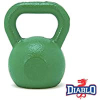 DIABLO Green Powder Coated Solid Cast Iron Kettlebell Weights (Weight 8KG)